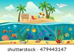 colored underwater world island ... | Shutterstock .eps vector #479443147
