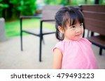 little asian girl looking up on ...   Shutterstock . vector #479493223