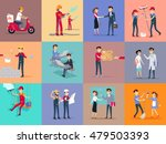 labor day different professions....   Shutterstock .eps vector #479503393