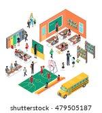 school conceptual vector in... | Shutterstock .eps vector #479505187