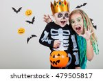 happy brother and  sister on... | Shutterstock . vector #479505817