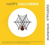 happy halloween spider net.... | Shutterstock .eps vector #479516053