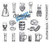 octoberfest vector set. beer... | Shutterstock .eps vector #479543497