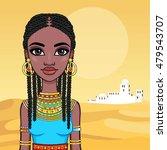 portrait of a beautiful african ...   Shutterstock .eps vector #479543707