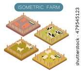 image of an isometric farm... | Shutterstock . vector #479545123