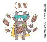 cute cartoon superhero raccoon... | Shutterstock .eps vector #479550283