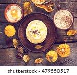 pumpkin pancakes. autumn still... | Shutterstock . vector #479550517