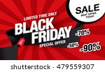 black friday sale banner | Shutterstock .eps vector #479559307