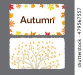autumn flyer template with... | Shutterstock .eps vector #479567557