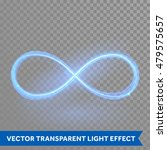 vector blue magic glowing light