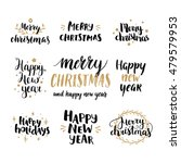 set of hand drawn merry... | Shutterstock .eps vector #479579953