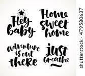vector set of lettering phrase. ... | Shutterstock .eps vector #479580637