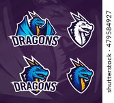 creative dragon logo template.... | Shutterstock .eps vector #479584927