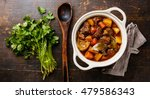 beef meat stewed with potatoes  ... | Shutterstock . vector #479586343
