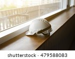 white plastic helmet for... | Shutterstock . vector #479588083