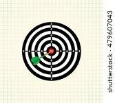 vector darts game  in the... | Shutterstock .eps vector #479607043