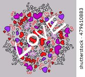 circular background of hearts ... | Shutterstock .eps vector #479610883