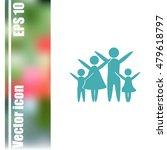 family vector icon | Shutterstock .eps vector #479618797
