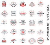 set of retro logotype templates.... | Shutterstock .eps vector #479624653