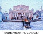 bolshoi theater in winter ... | Shutterstock . vector #479640937