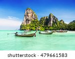 longtale boats at the beautiful ... | Shutterstock . vector #479661583
