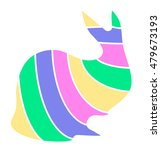 colorful rabbit abstract...   Shutterstock .eps vector #479673193