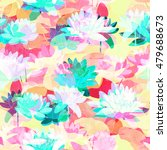 Waterlily  Watercolor Seamless...