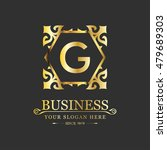 vector letter g business luxury ... | Shutterstock .eps vector #479689303