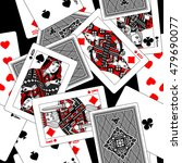 playing cards seamless pattern... | Shutterstock .eps vector #479690077