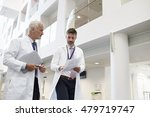 two doctors talking as they... | Shutterstock . vector #479719747