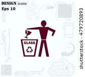 throw away the trash icon ... | Shutterstock .eps vector #479720893