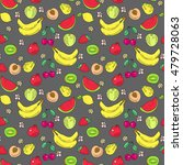 the pattern of doodle of fruit  ... | Shutterstock .eps vector #479728063