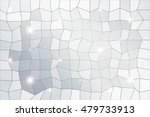 polygon background of silver... | Shutterstock .eps vector #479733913