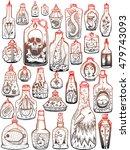 set of stylized bottles. seth...   Shutterstock .eps vector #479743093