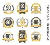 set of vintage anniversary...   Shutterstock .eps vector #479746453