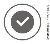 check  icon vector. flat design. | Shutterstock .eps vector #479746873