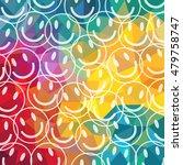 smile ball on colorful... | Shutterstock .eps vector #479758747