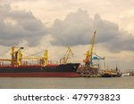 the cargo ship unloading at the ... | Shutterstock . vector #479793823