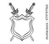 vintage crossed swords and... | Shutterstock .eps vector #479797963