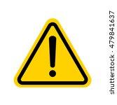hazard warning attention sign... | Shutterstock .eps vector #479841637