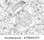 santa claus with braided... | Shutterstock .eps vector #479849197