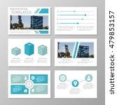 set of blue template for... | Shutterstock .eps vector #479853157
