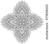 henna tattoo mandala in mehndi... | Shutterstock .eps vector #479858203