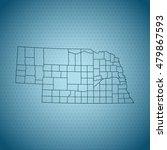 map of nebraska | Shutterstock .eps vector #479867593