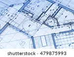 architecture blueprint    house ... | Shutterstock . vector #479875993