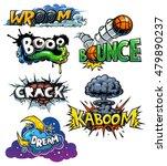 vector set of comics icons | Shutterstock .eps vector #479890237
