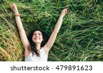 young happy woman laughing in a ... | Shutterstock . vector #479891623