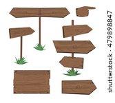 vector illustration of wooden... | Shutterstock .eps vector #479898847