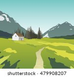 mountain landscape with a... | Shutterstock .eps vector #479908207