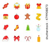 christmas icons set in cartoon... | Shutterstock .eps vector #479908873